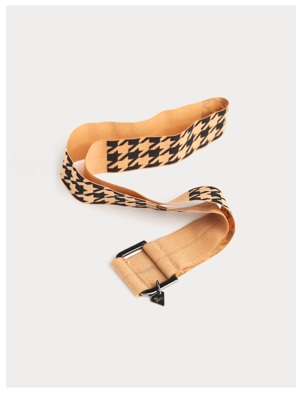 Hounds tooth Check Hair tie Band / Beige
