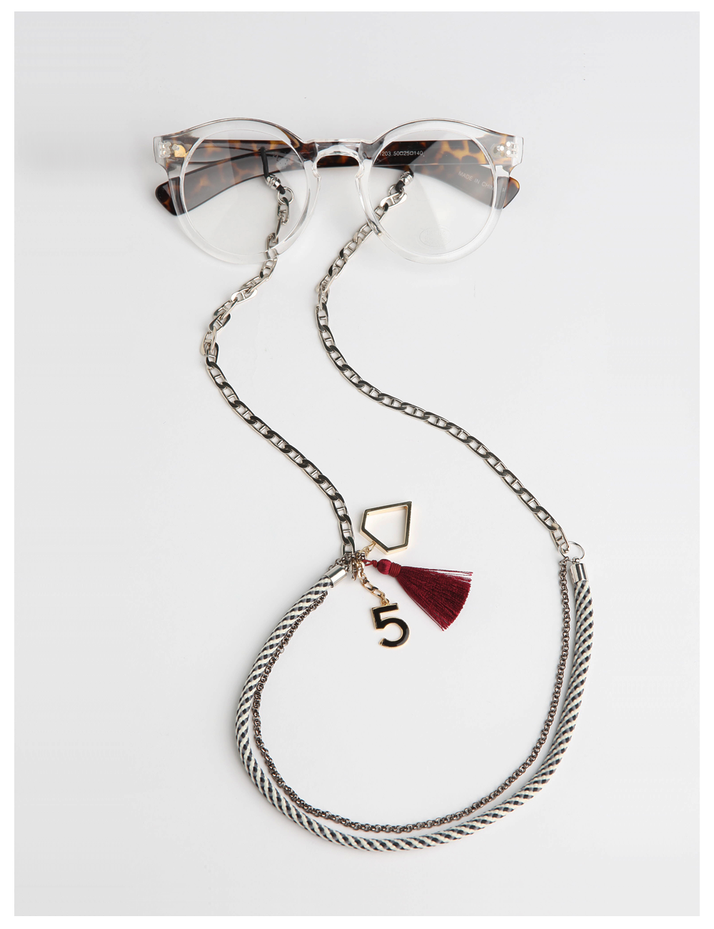HIPSTER RIO / burgundy_EYE GLASS CHAIN