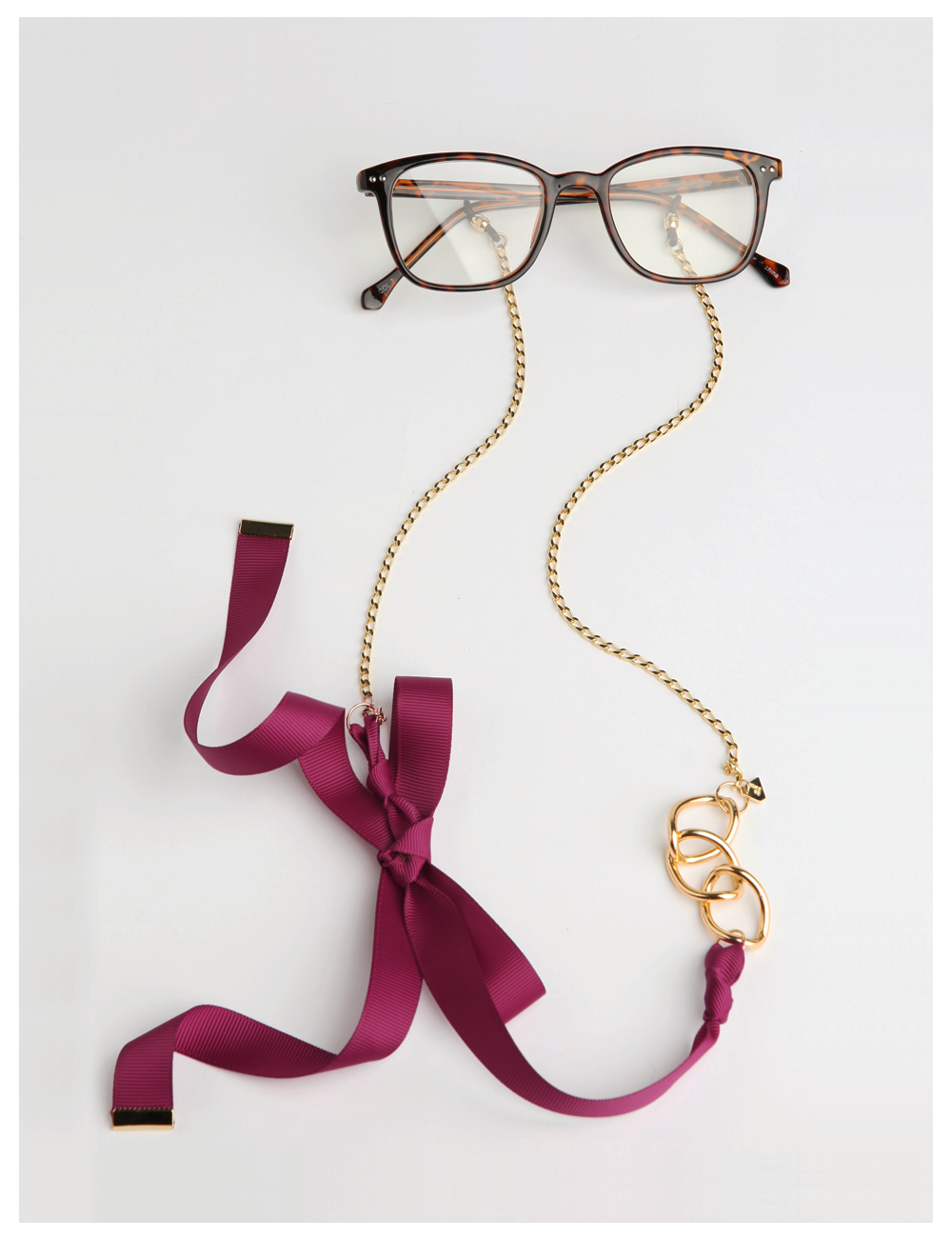 NANA BONNY / plum_EYE GLASS CHAIN
