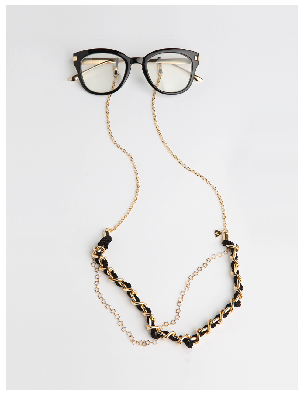 MODS TENDER / black_EYE GLASS CHAIN