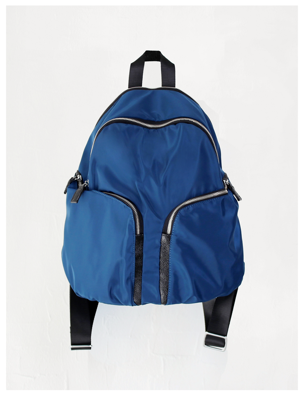Too fine leather back pack_Blue