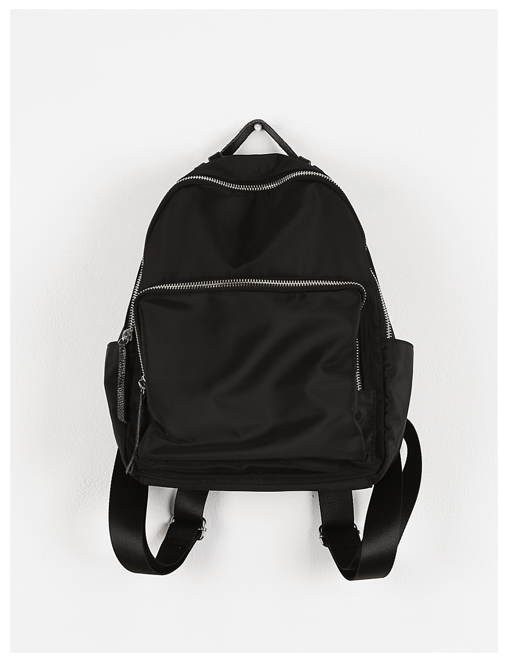 Glam black leather back pack