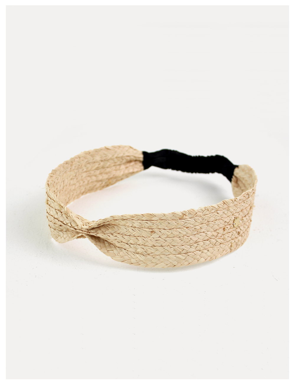 Natural beige straw Hair band