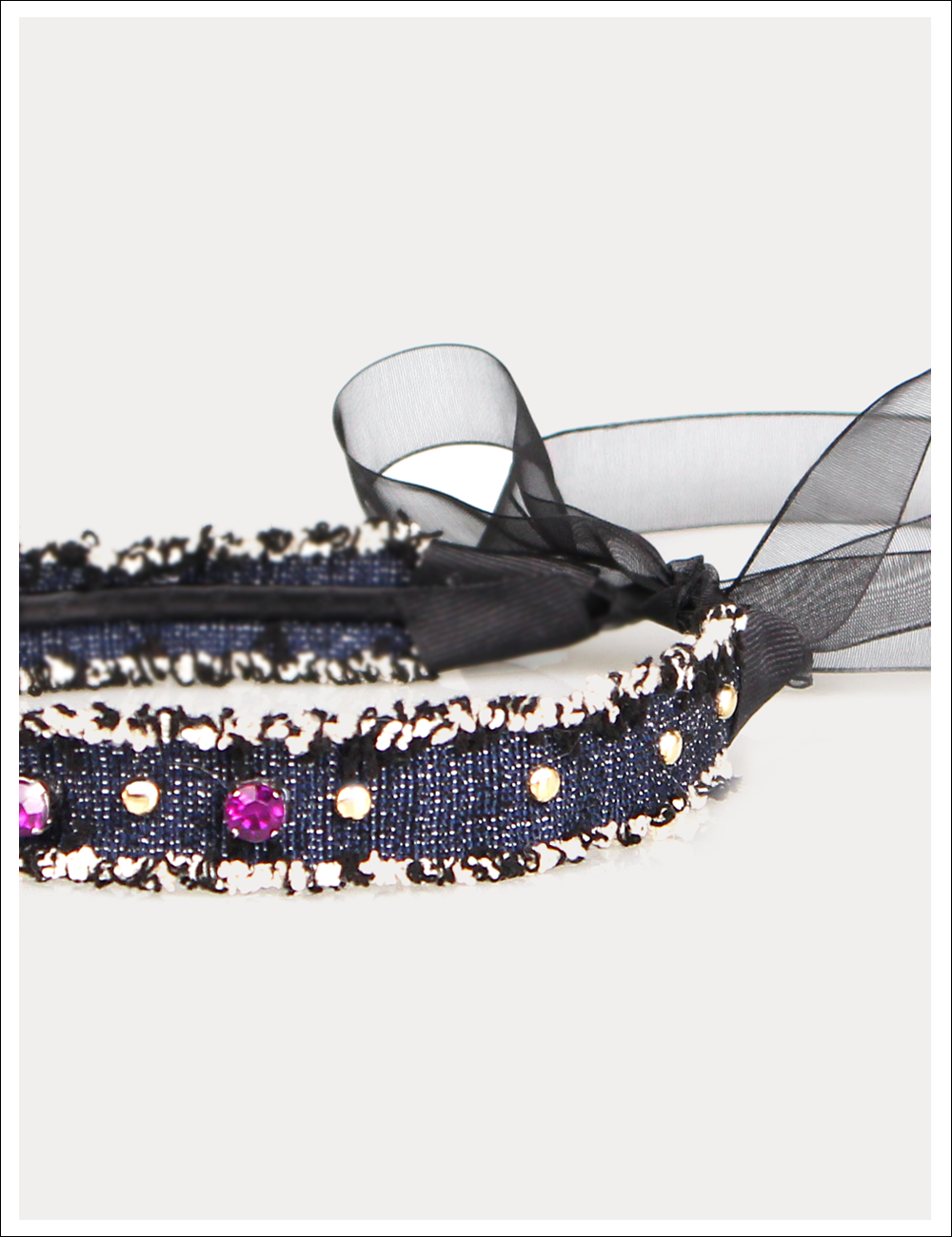 Masculine Feminine Ribbon hairband_Black