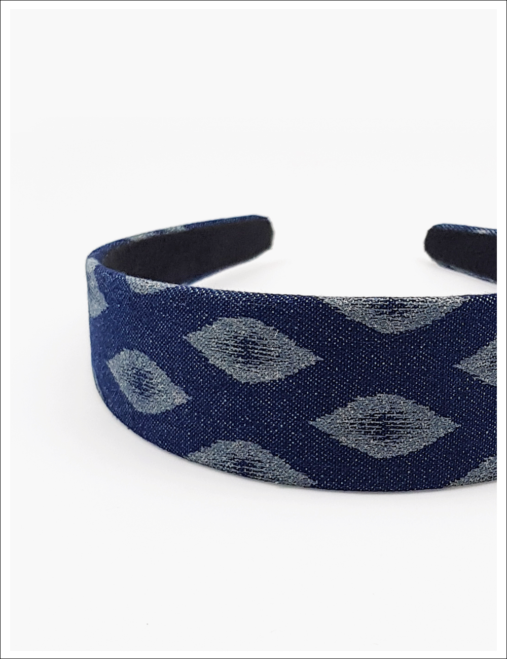 Denim ruby hairband