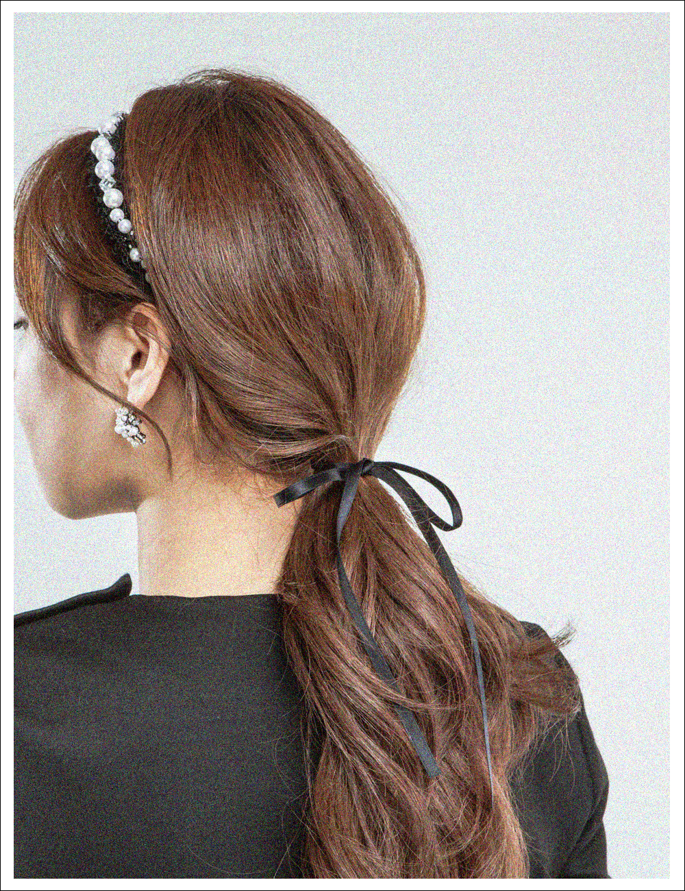 Graceful Retro Black hairband