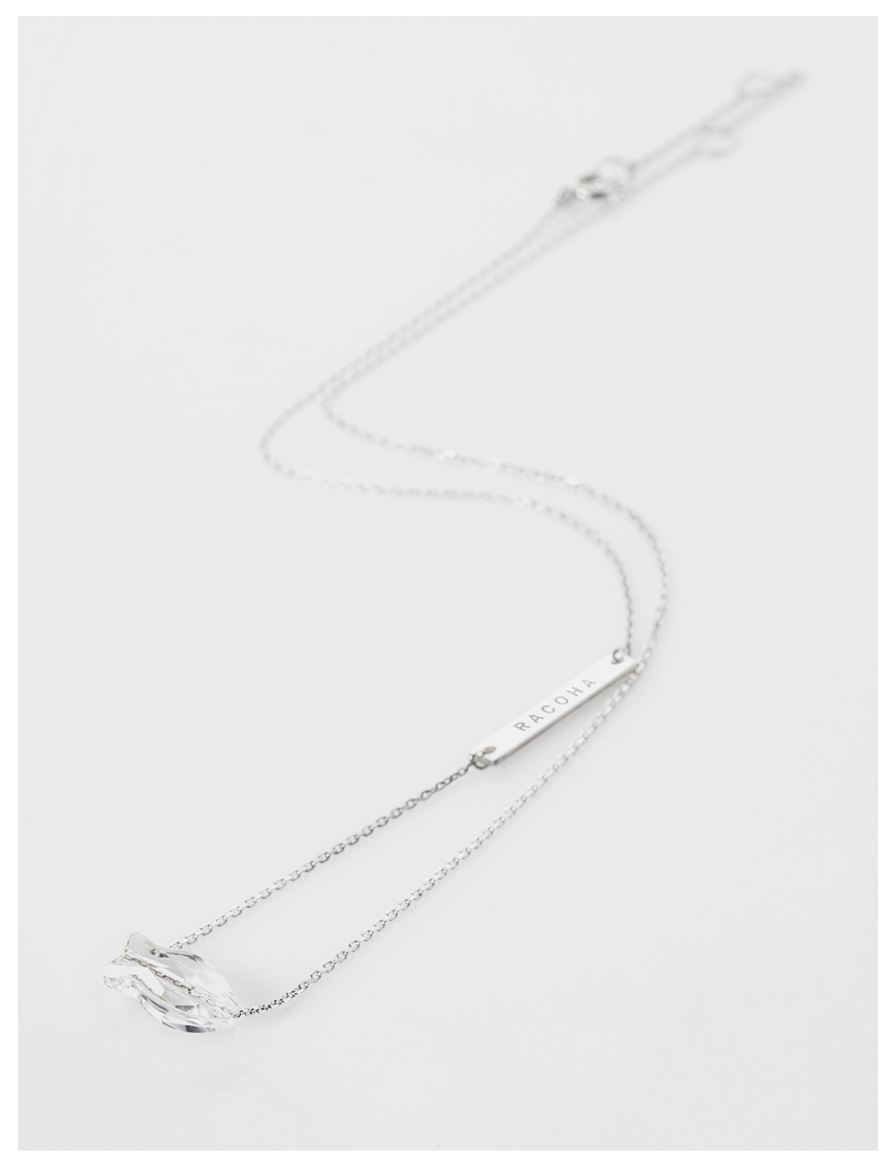 Killout fish silver necklace