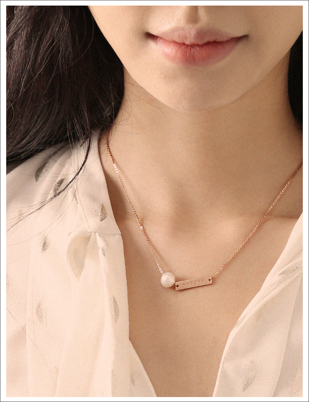 Killout pearl silver necklace